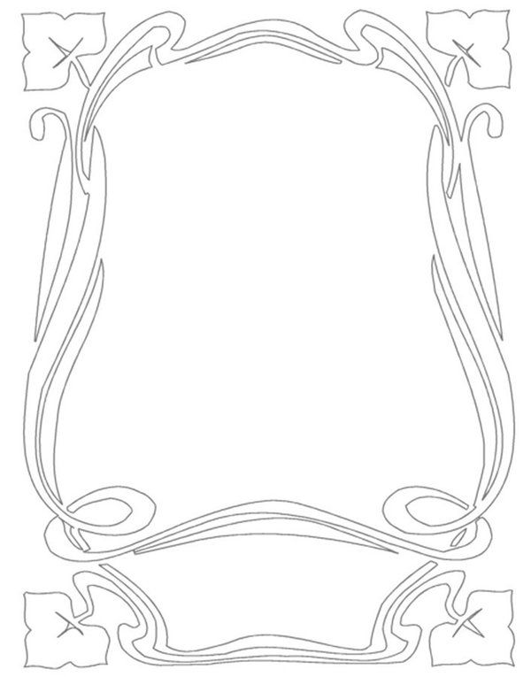 Border Art Nouveau Frame 6 ~ Bnspyrd.deviantart.com on @deviantART ~ Free Download