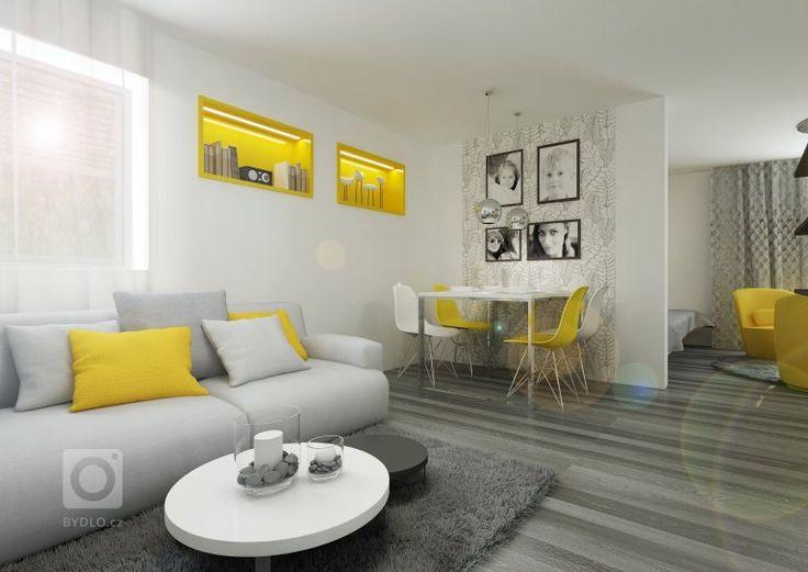 Startovní bydlení pro manželský pár a 2 malé děti, kde je prostor ke spánu všech členů rodiny řešen jednou velkou společnou postelí. Většina nábytku je řešena…