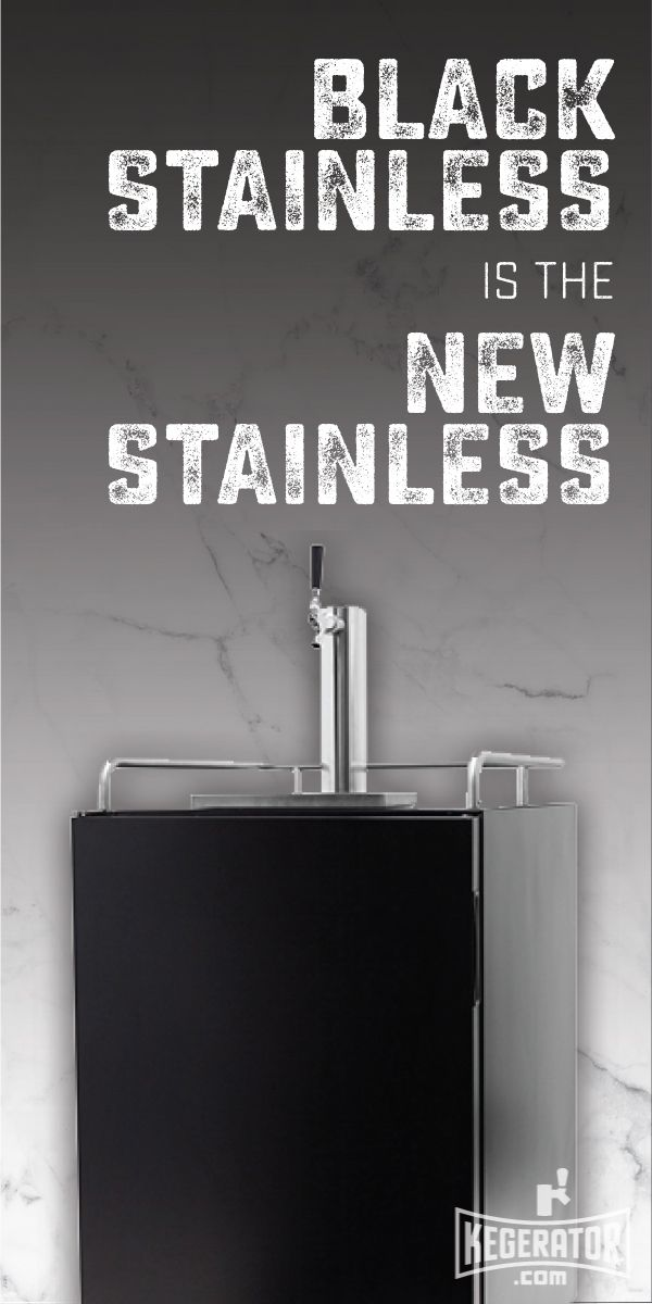 Introducing the New Edgestar Black Stainless Built-In Kegerator.  Our flagship KC7000 kegerator is now available in the ever popular black stainless finish.  The door and cabinet are powder coated in a stylish black and the door is constructed of high end 304 stainless steel to give a sleek finish. #beer #craftbeer #kegerators