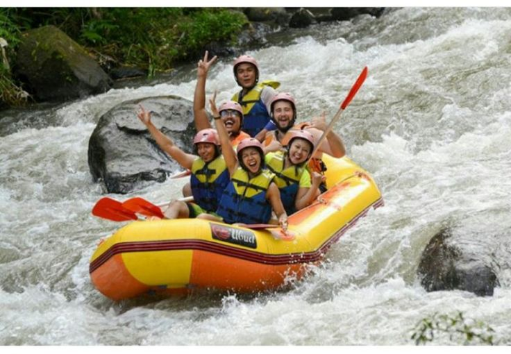 In Bali island, rafting adventures are much favored by tourists is rafting on the Ayung river (Ubud,