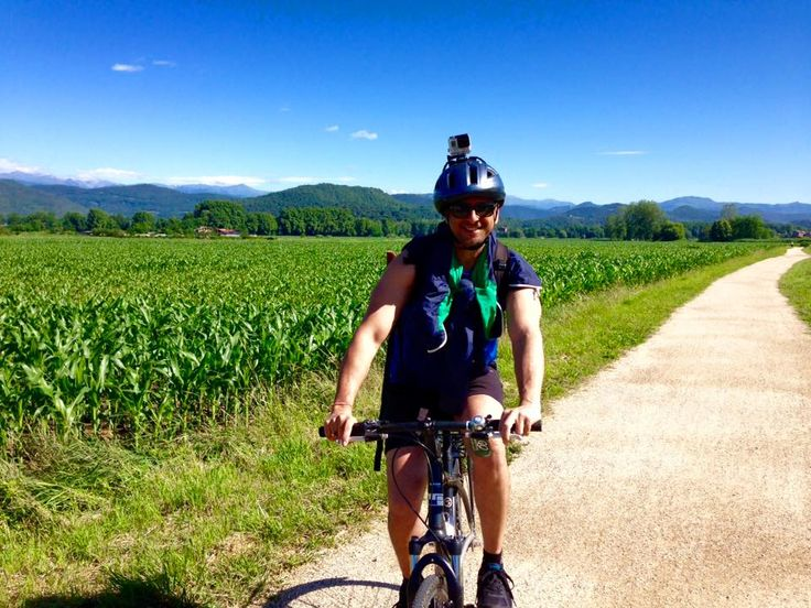 Arvin is in the midst of Catalonia's glorious countryside, cycling his way through breathtaking sunflower fields, tree-lined canopies and cobble-stoned villages. #GrabYourDream #GYDLive #travel #adventure