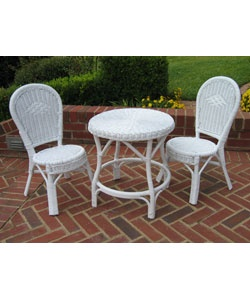 Marvelous @Overstock.com   Bistro Set Includes One Table And Two Chairs Outdoor  Furniture Constructed Of Durable Wicker And Rattan Childrenu0027s Garden Decor  With A ...
