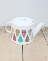 Gorgeous patterned French teapot