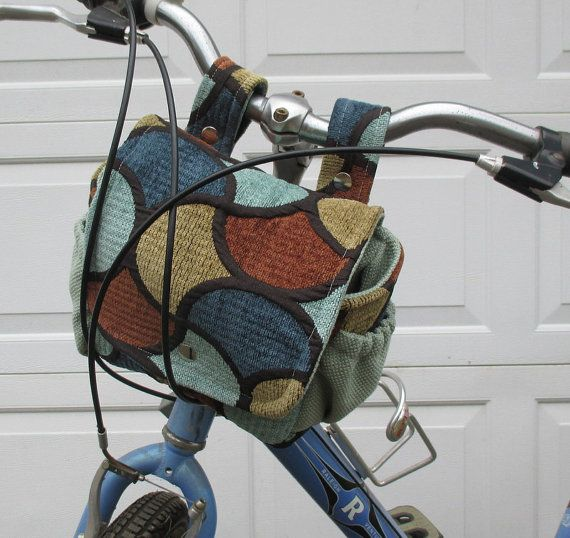 Bicycle Bag  Bike Bag Converts To A Purse   Blue by bungalowquilts