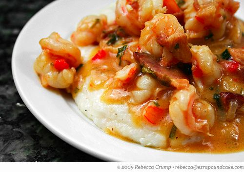 this week s recipe creamy shrimp amp grits with prosciutto mint