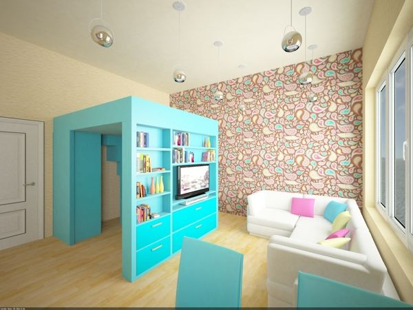 Bed Office Space Book Case And Wardrobe Combined In One Piece Of Furniture Small Living RoomsLiving Room