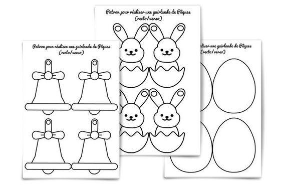 Jeux et activités de Pâques : une guirlande d'œufs pour décorer la maison (avec images ...