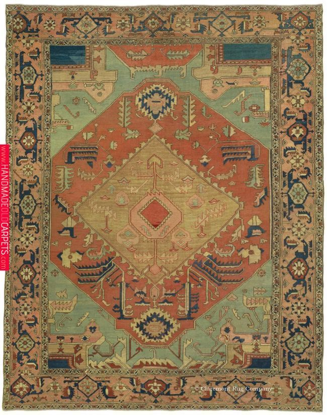 Serapi Northwest Persian 9ft 8in X 12ft 8in 3rd Quarter 19th Century Rugs On Carpet Rugs Oriental Rug