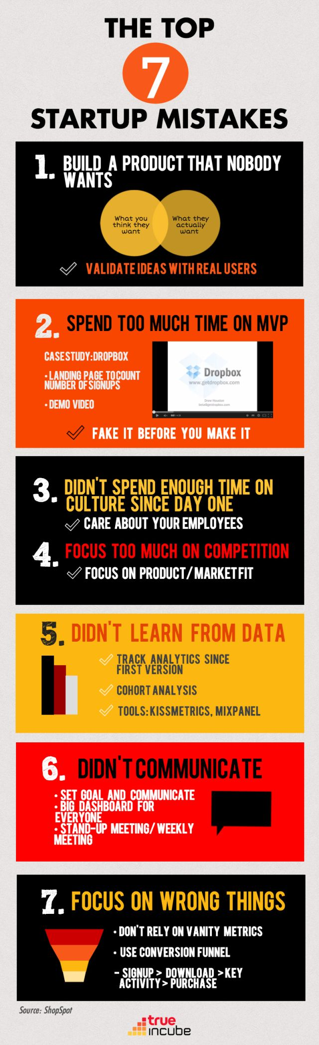 """True Incube tarafından hazırlanan """"Starting a Business? The Top 7 Mistakes You Should Avoid   İş mi kuruyorsunuz? En Çok Yapılan ve Kaçınmanız Gereken 7 Hata"""" adlı infografik çalışmasında en çok yapılan startup hataları ve buna karşılık olarak neler yapılması gerektiği aktarılmaktadır. Başarısız girişimcilik davranışlarını gelin, birlikte keşfedelim.#girişimcilik #socialbusiness #socialbusinesstr #iş #kariyer #entrepreneur #social #business"""