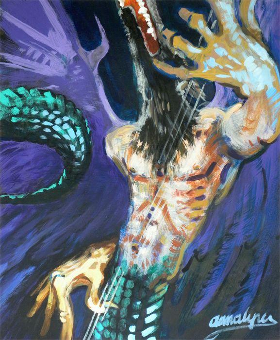 werewolf - bassman nocturne painting