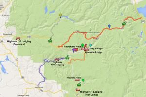 This Helpful Yosemite Lodging Map Has All You Need to Know About the Area: Yosemite Area Lodging Map