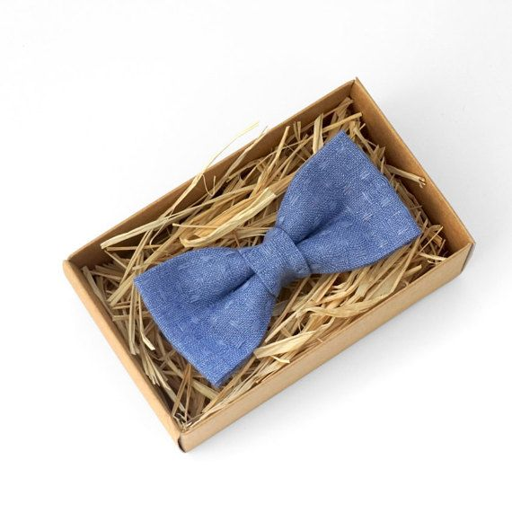 Serenity blue bow tie Blue bow tie Lavender bow tie by Luwrine