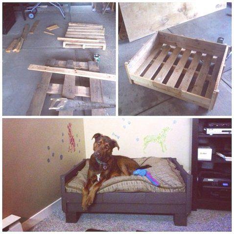 Un lit pour chien en palette spécial grande taille