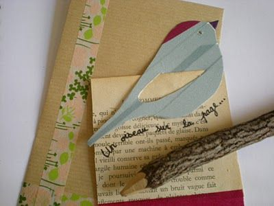 "DIY: Marque page ""un oiseau sur la page"" Bird bookmark tutorial using washi tape"