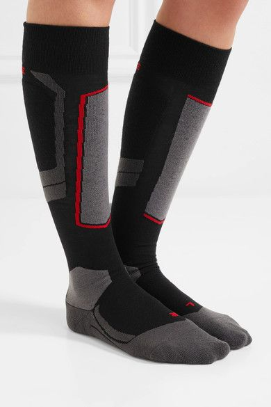 Sk2 Wool-blend Ski Socks - Black Falke Ergonomic Sport System Free Shipping New Styles EdCYMVPZgq