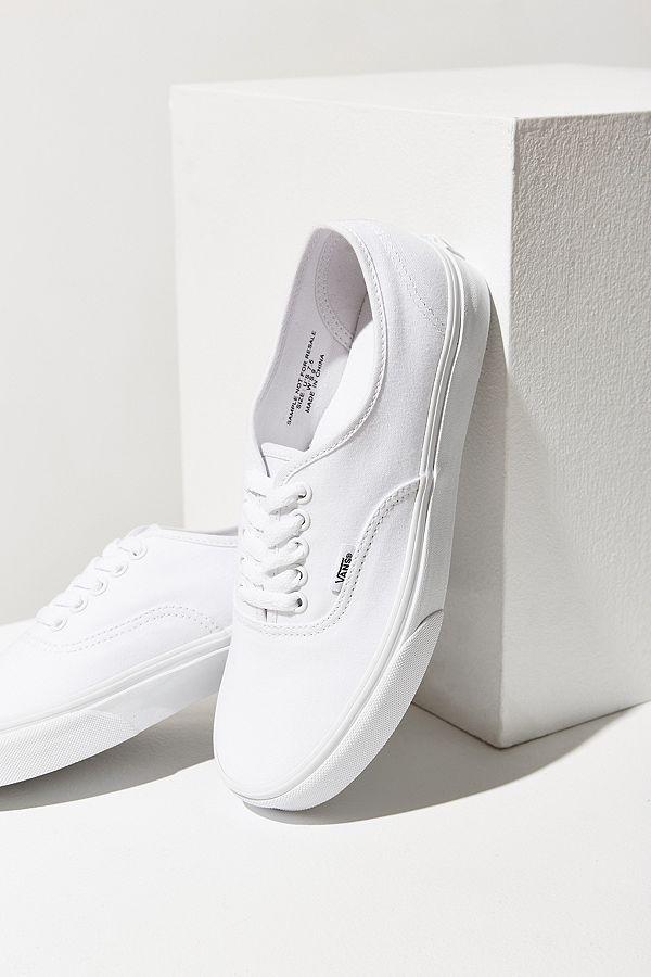 Slide View: 2: Vans Authentic White Canvas Sneaker