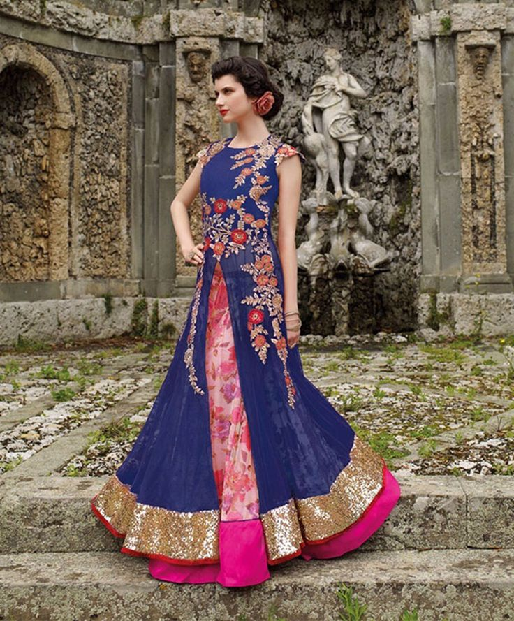 Wedding Lancha Images: 361 Best Indo Western Lehenga Choli Images On Pinterest