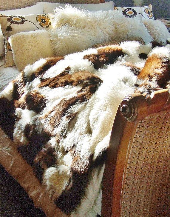 Captivating Alpaca Fur Rug Throw Blanket Bedspread Extra By Jacksonstudios, $214.00