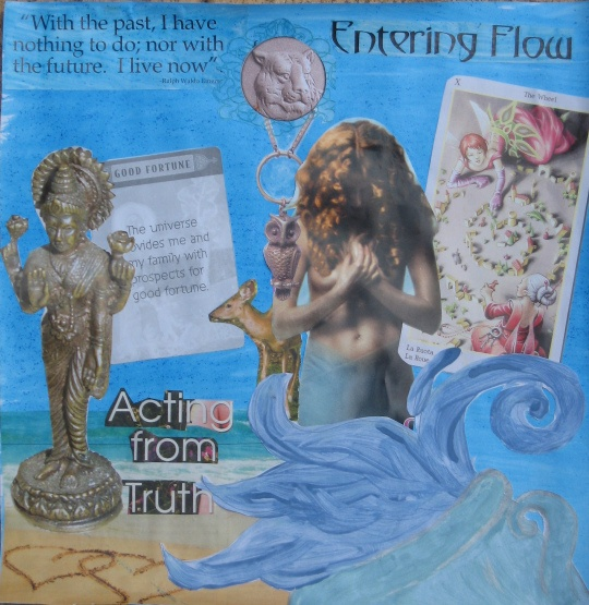 Aquarius New Moon Collage by Michelle Buckley