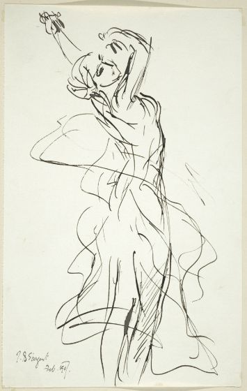 John Singer Sargent ~ The Dance (after Jean Baptiste Carpeaux), 1907 (ink on paper) This is Amazing...