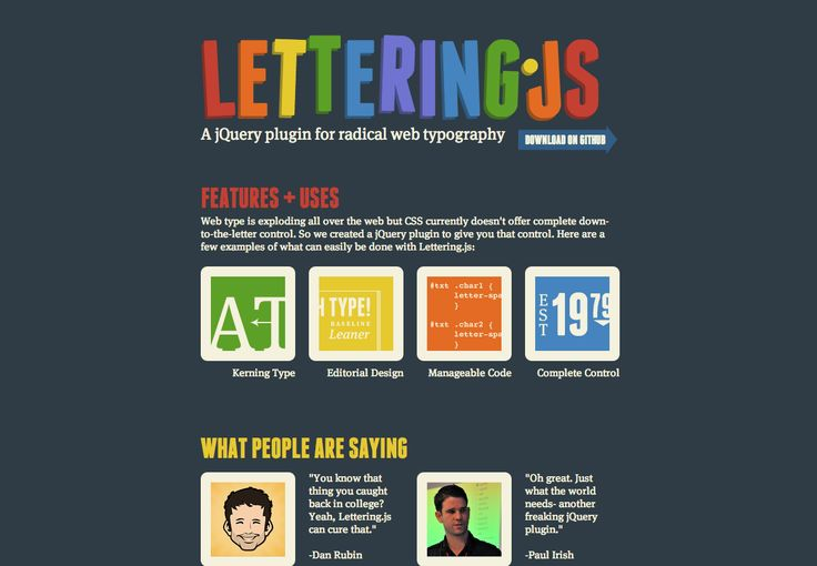 Lettering.js is down-to-the-letter control