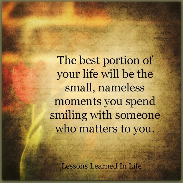 The Best Portion Of Your Life