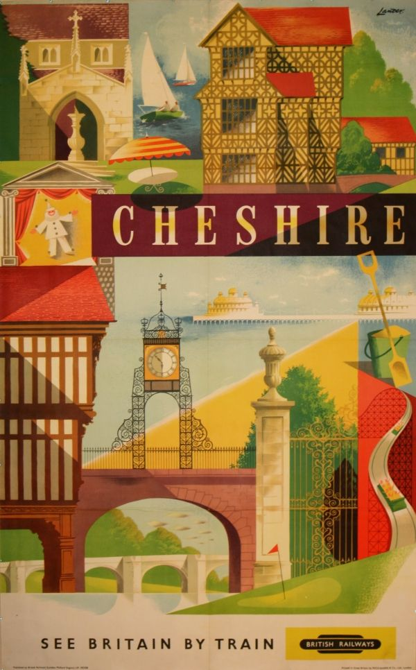 Vintage Travel Poster:  Cheshire, England