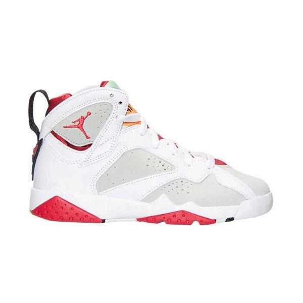 Boys' Grade School Air Jordan Retro 7 Basketball Shoes (€120) ❤ liked on Polyvore featuring shoes, jordans and jordan 7