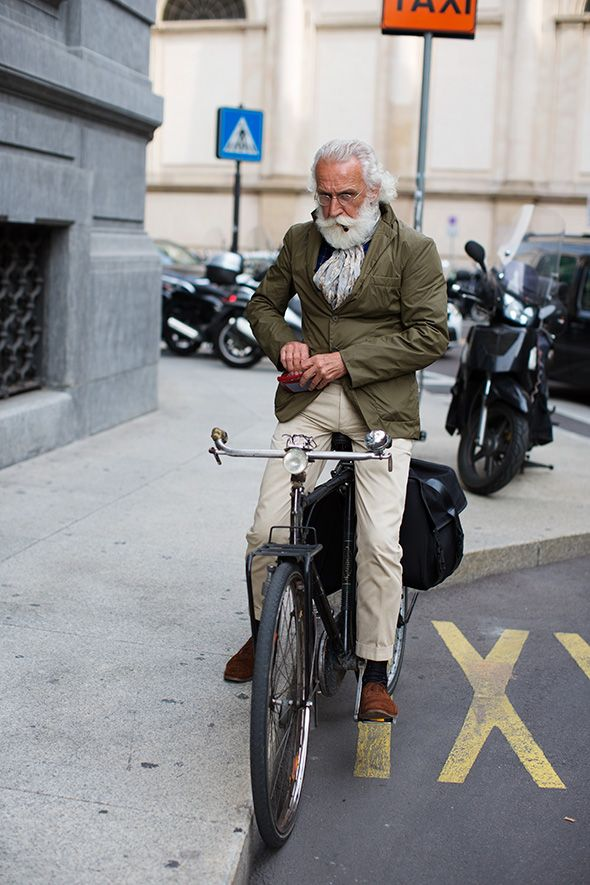 Stylish older gentleman!