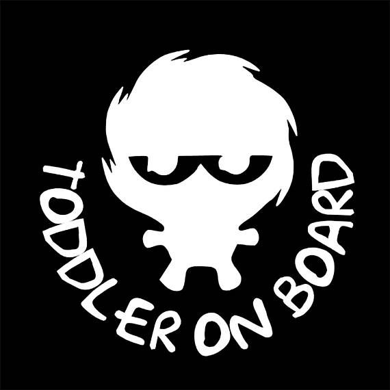 This Toddler Boy on Board Vinyl Decal is made with high performance vinyl (ORACAL 651); - Default Toddler Boy on Board sticker color: white; - Default vinyl sticker size: 5.9 x 5.9; - All decals come with FREE Instructions for mounting the vinyl decal on smooth surface; - This is a