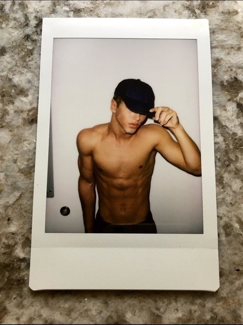 hot abs, hat, and nate garner image