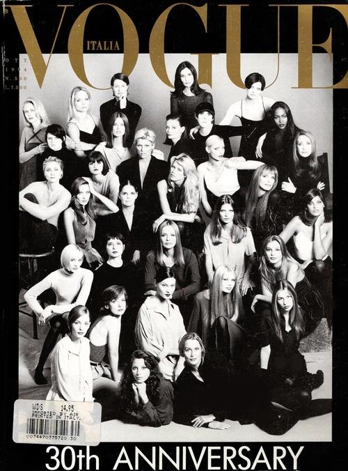 supermodels   Tumblr  (via Valentina): Bridget Hall, Italian Vogue, Claudia Schiffer, Christy Turlington, Carla Bruni, October 1994, Magazines Covers, Isabella Rossellini, Naomi Campbell