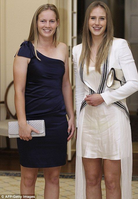 Meg Lanning and Ellyse Perry attend reception hosted by the Governor General Peter Cosgrov... http://dailym.ai/1f6q6wh#i-ab430e84