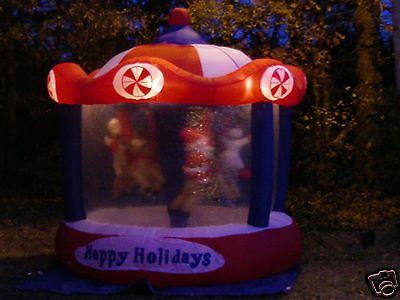 8 Gemmy Lighted Animated Rotating Christmas Carousel