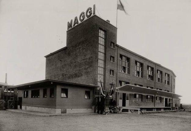 Maggi fabriek, 1934, vlakbij gewoond Bos en Lommer alleen de geur al, die rook je altijd