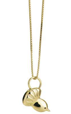 Gold Fantail Pendant - Boh Runga | Shop New Zealand NZ$ 399.00
