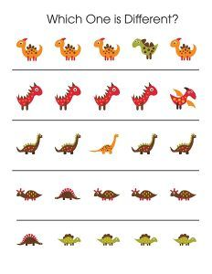 dinosaur which one is different printables (2)