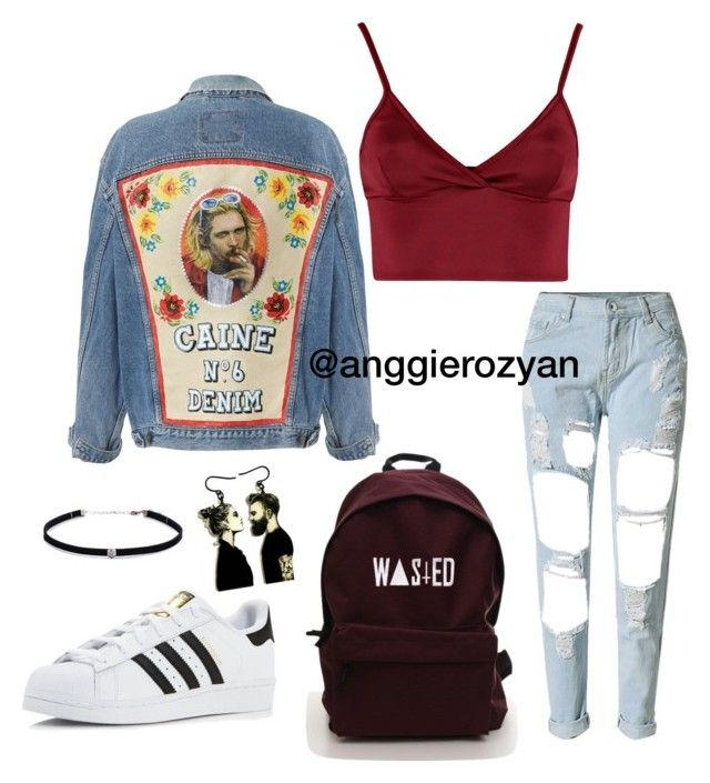 Crazy denim by anggierozyan on Polyvore featuring polyvore, fashion, style, Lipsy, adidas, Carbon & Hyde and clothing