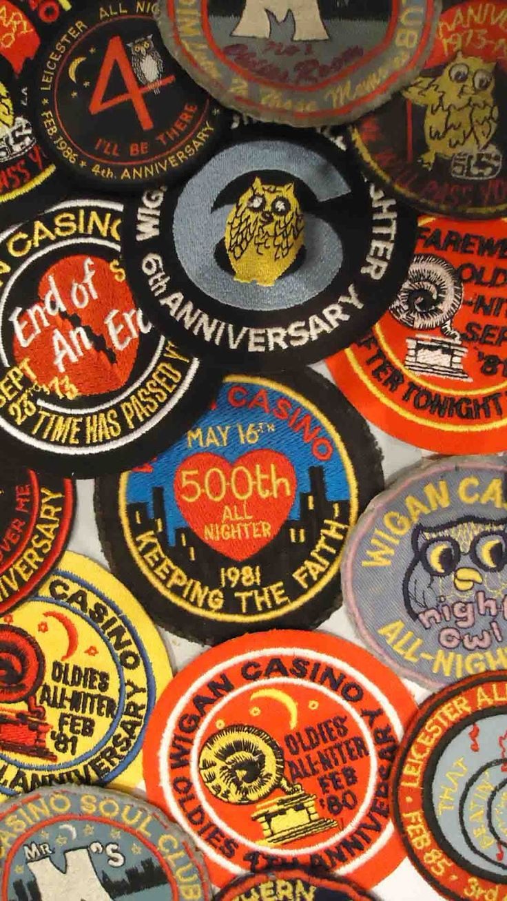 Northern Soul Anniversary Patches #NorthernSoul #SoulMusic