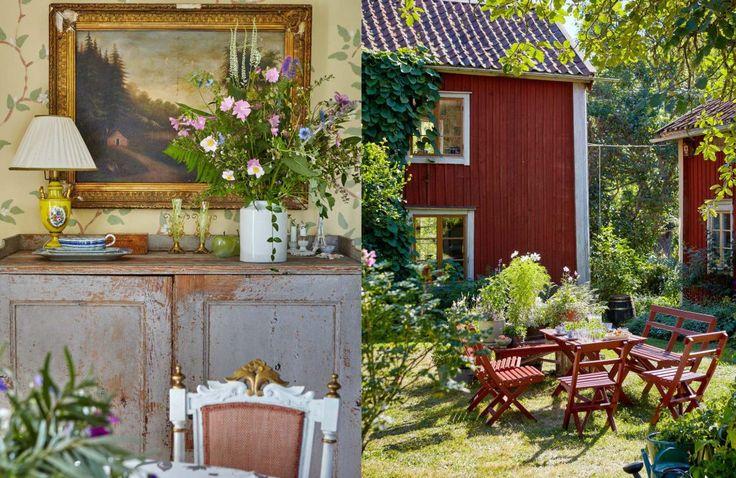 Allmoge och vackra blommor hemma hos Gunnar Kaj i Roslagen