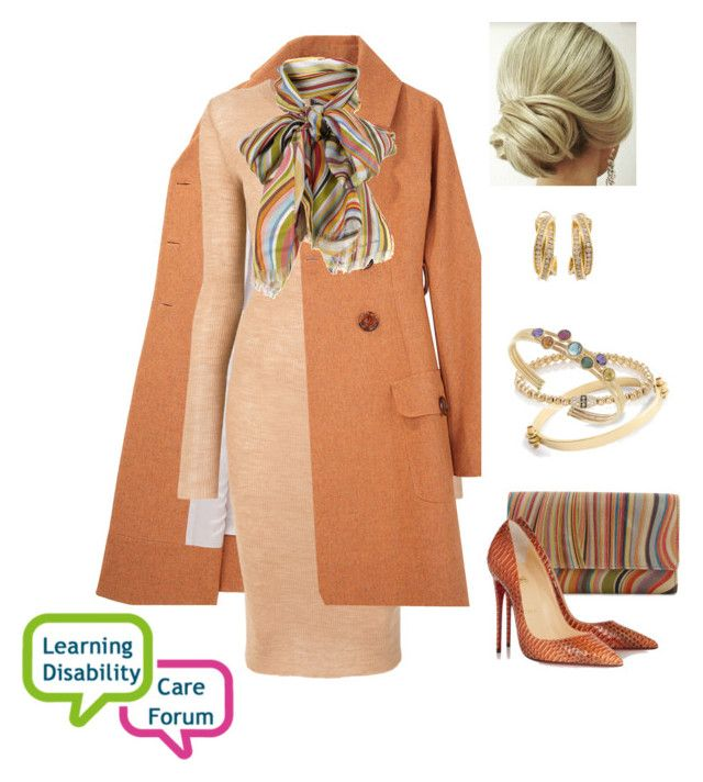 """""""Queen Rose attended a forum on learning disorders"""" by hm-queen-rose ❤ liked on Polyvore featuring Paul Smith, Charles Anastase, Cashmere in Love, Christian Louboutin, J.Crew, Cartier, Sara Weinstock and Marco Bicego"""