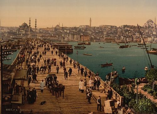 Galata Bridge as seen from Karaköy