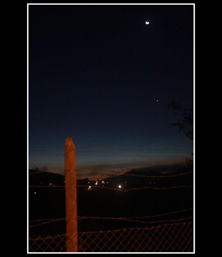 una noche de luna en el campo en Pomaire