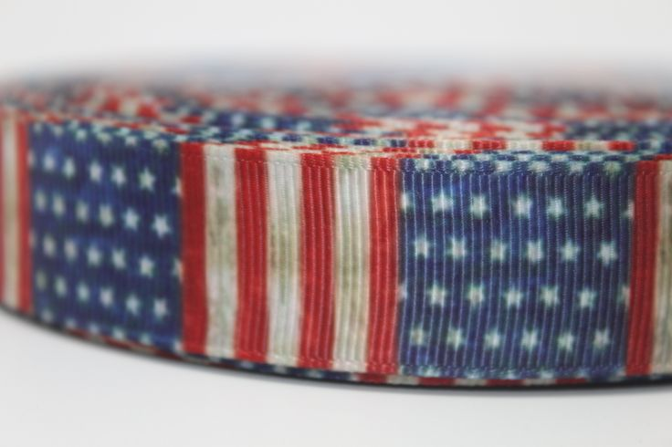 "Vintage Flag 7/8"" Grosgrain Ribbon by the Yard for Hairbows, Scrapbooking, and More!!"