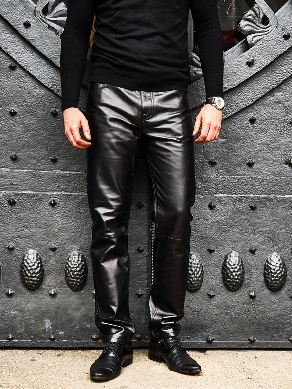 04183d7107907a cool carbon black luxury lamb leather trouser for men Dandyissm ...