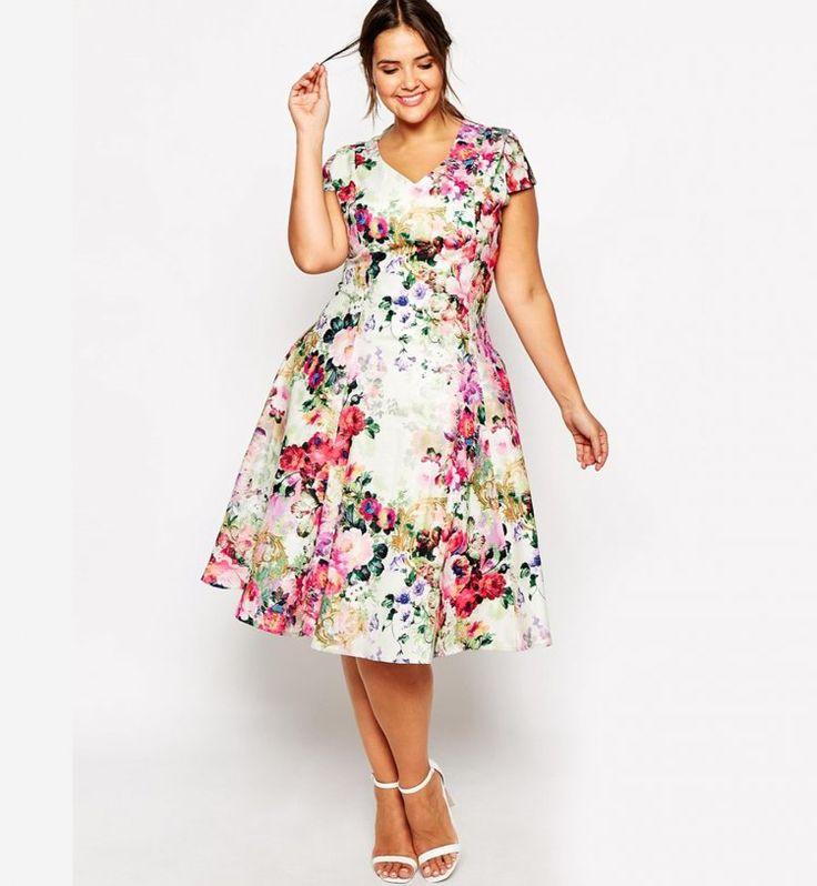 Vestidos primaverales para gorditas - http://vestidosglam.com/vestidos-primaverales-para-gorditas/
