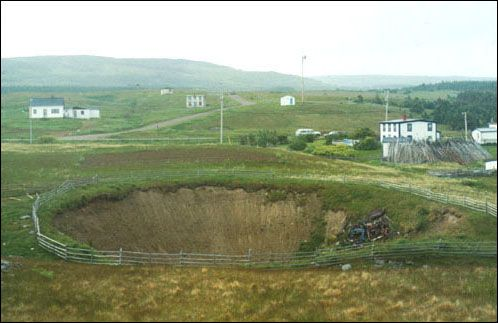 Sinkhole in the Codroy Valley: Newfoundland and Labrador Heritage