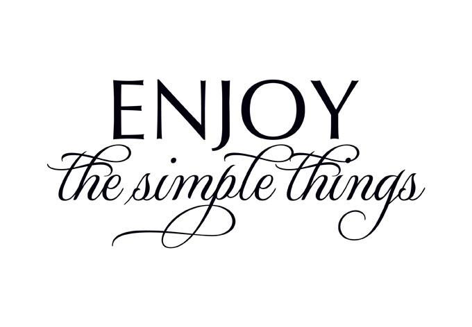 Enjoy the Simple Things... Muursticker | Slaapkamer Muurstickers | allemaalstickersenzo