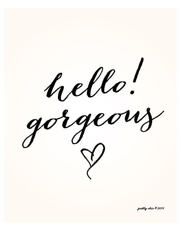 Hello! Gorgeous - your inner beauty shines through. So proud of the person you are!