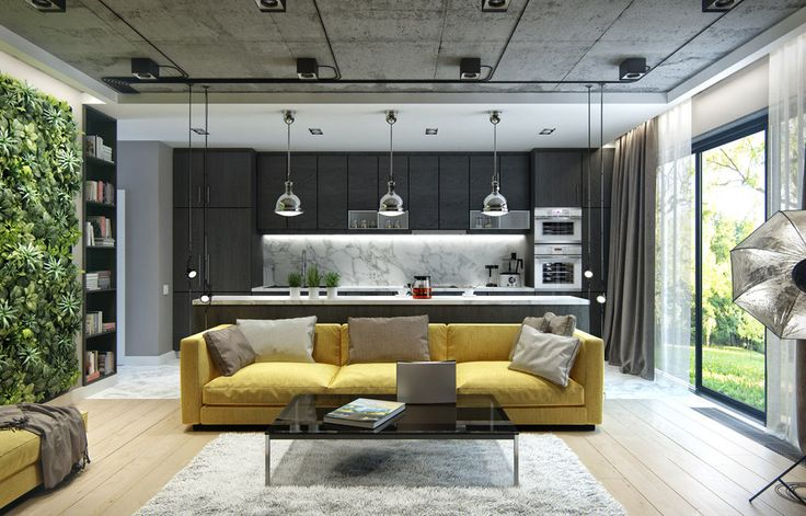 3 Inspiring Homes With Concrete Ceilings and Wood Floors - http://www.difthehome.com/3-inspiring-homes-with-concrete-ceilings-and-wood-floors